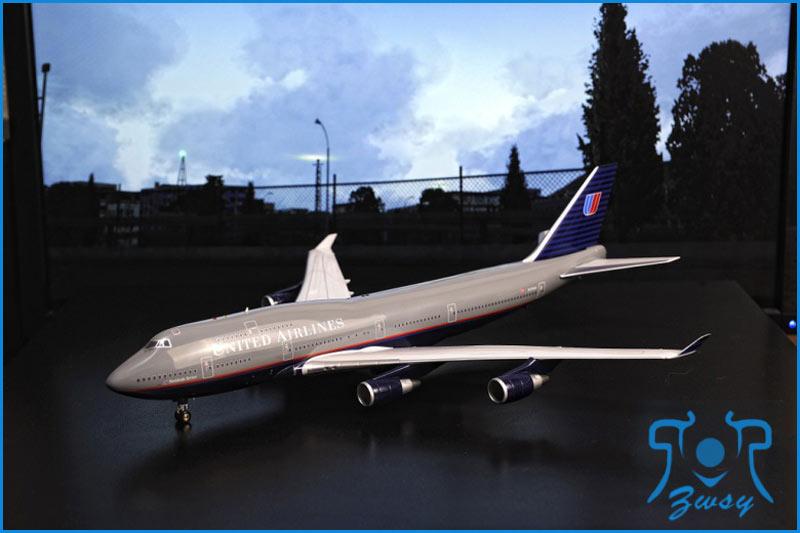 波音747-400客/货运输机模型 1大型飞机模型