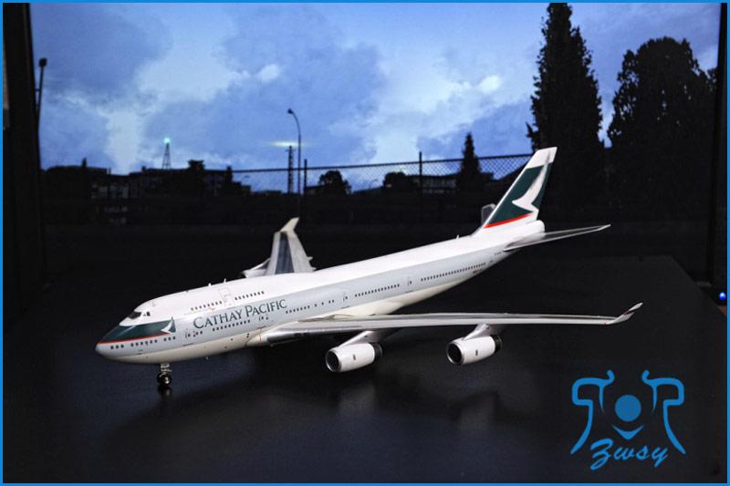 波音747-400客/货运输机模型2 大型飞机模型