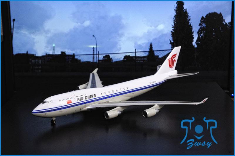 波音747-400客/货运输机模型 大型飞机模型